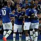 Arouna Kone, second right, is fit and ready to play a part in Everton's season
