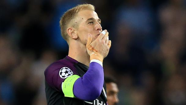 Joe Hart, pictured, is set to leave Manchester City but Everton manager Ronald Koeman was quick to rule out a move to Goodison Park