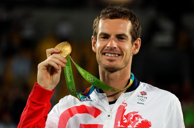 Andy Murray with his Rio gold