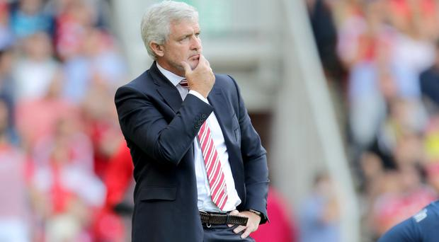 Mark Hughes' Stoke won 4-3 at Everton last season
