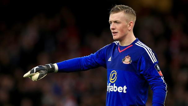 Jordan Pickford will get his chance in goal for Sunderland