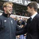 Jurgen Klopp, left, and Mauricio Pochettino, right, meet again this weekend