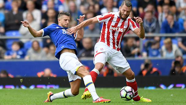 Everton's Kevin Mirallas, left, topped the player ratings