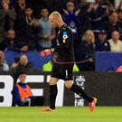 Kasper Schmeichel will have a hernia operation after being substituted against Swansea