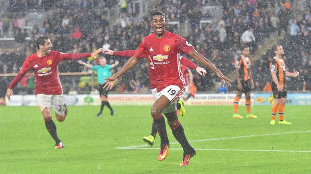 Marcus Rashford scored the late winner