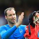 Arsenal goalkeeper Petr Cech was pleased with the Gunners' first-half performance at Watford
