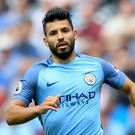 Manchester City's Sergio Aguero, pictured, faces a possible ban following an incident involving West Ham defender Winston Reid