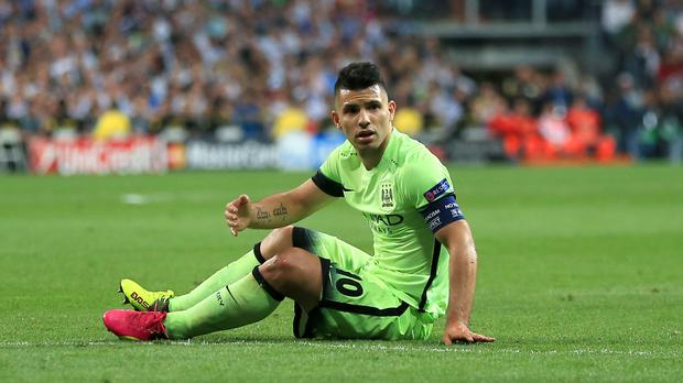 Sergio Aguero will missed the Manchester derby through suspension