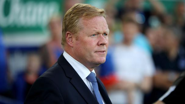 Ronald Koeman says he is happy with his Everton squad