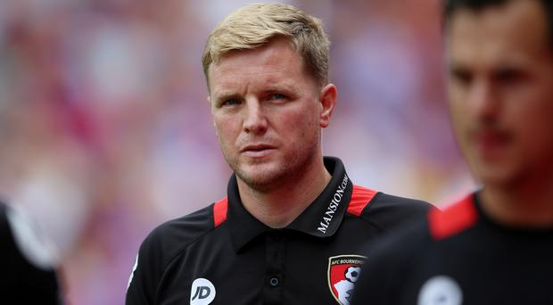 AFC Bournemouth manager Eddie Howe, pictured, speaks highly of Tony Pulis