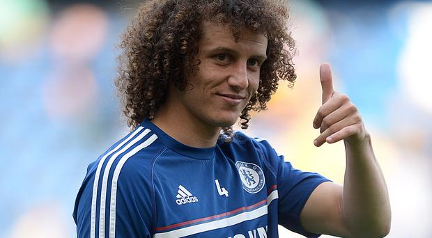 Antonio Conte believes David Luiz, pictured, can become one of the best defenders in the world