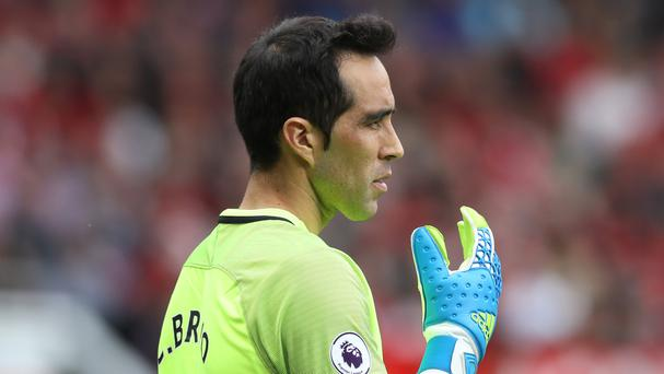 Claudio Bravo looked uncertain even as Manchester City won on his debut