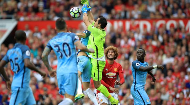 Claudio Bravo struggled on his Premier League bow
