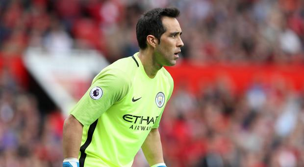 Manchester City goalkeeper Claudio Bravo made an unconvincing debut in their 2-1 win at Manchester City.