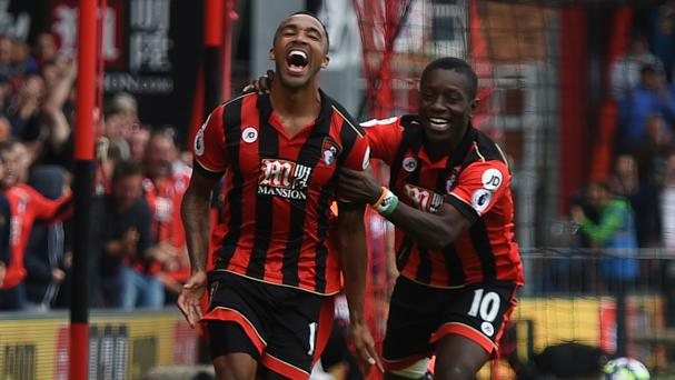 Callum Wilson, left, enjoyed his first goal since recovering from injury