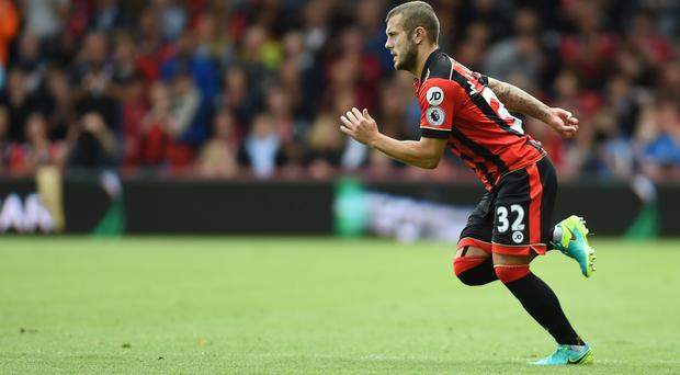 Jack Wilshere came on for his Bournemouth debut against West Brom