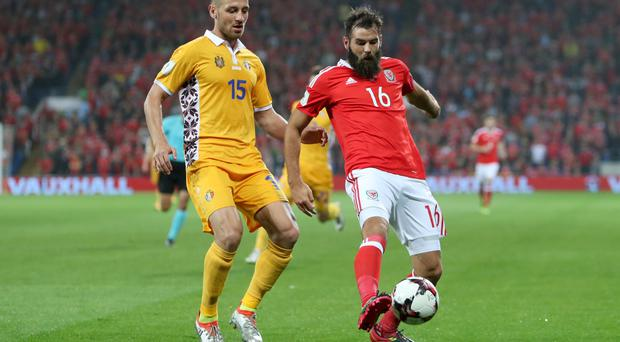 Joe Ledley, right, has urged Crystal Palace to follow in Wales' footsteps