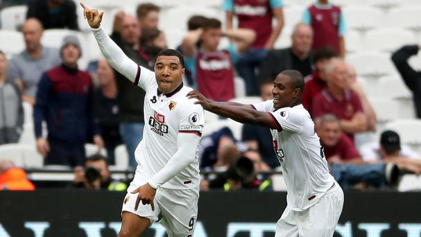 Troy Deeney, left, got Watford back on level terms