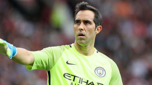 Claudio Bravo endured a tough time on his Manchester City debut