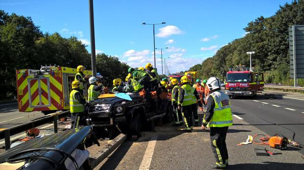 Pape Souare was airlifted to hospital after being involved in a car crash on Sunday