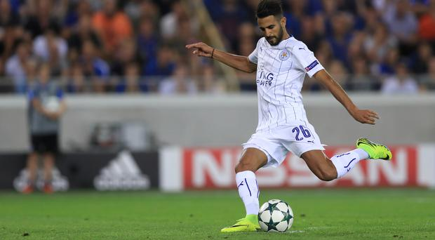 Leicester's Riyad Mahrez wraps up the Foxes' 3-0 Champions League win against Club Brugge from the penalty spot