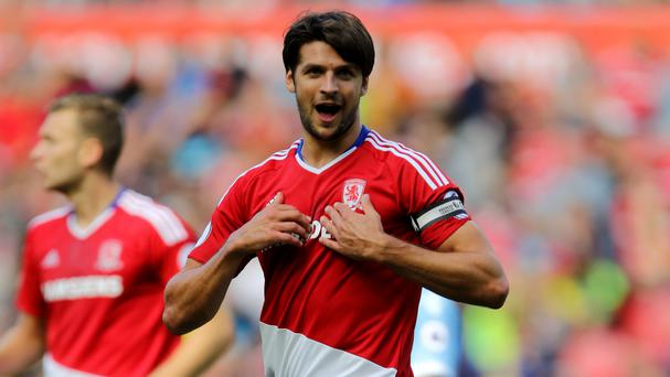 Middlesbrough defender George Friend, pictured, has received the backing of head coach Aitor Karanka
