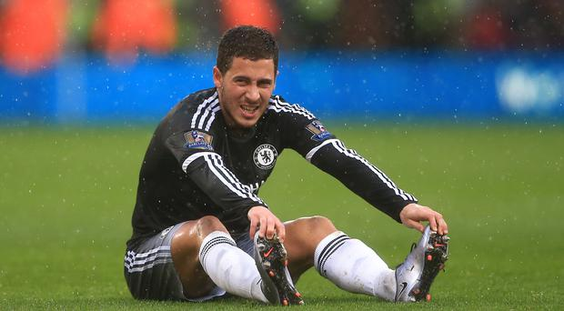 Eden Hazard will no doubt also be a source of concern as Klopp hopes for the kind of fluency produced so superbly by Roberto Firmino, Sadio Mane and, eventually, Philippe Coutinho against Leicester Picture: PA