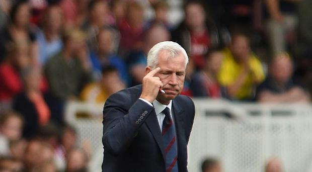 Crystal Palace manger Alan Pardew was told off for stepping out of the box against Middlesbrough