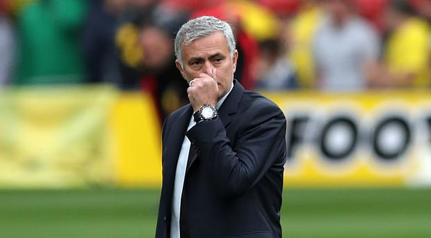 Manchester United manager Jose Mourinho had a forgettable afternoon at Watford