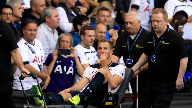 Tottenham are waiting to find out the extent of Harry Kane's ankle injury