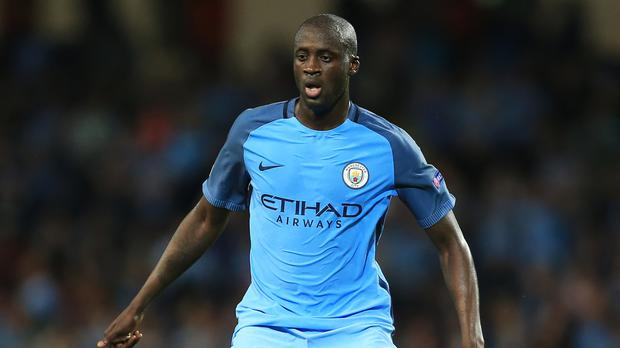 Yaya Toure, pictured, is not in contention for Manchester City because of remarks by his agent, Pep Guardiola has revealed