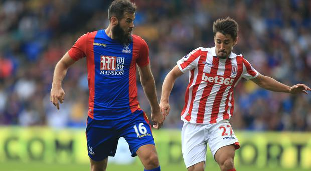 Joe Ledley, left, wants Crystal Palace to show the depth of their squad at Southampton