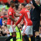 Wayne Rooney was a second-half substitute during Manchester United's victory over Leicester