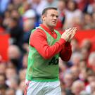 Manchester United captain Wayne Rooney was only among the substitutes for the 4-1 win over Leicester