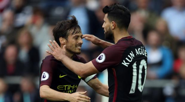 Sergio Aguero, pictured right, has been prolific for Manchester City this season