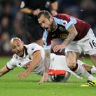 Steven Defour, right, was on top form for Burnley