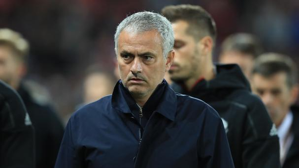 Jose Mourinho's Manchester United side face Stoke on Sunday
