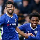 Diego Costa, left, took the plaudits in Chelsea's win