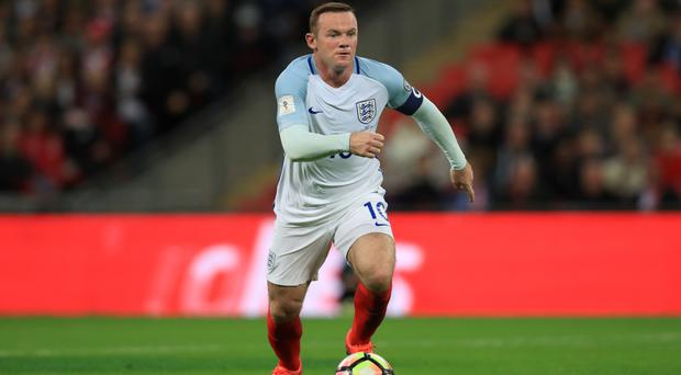 Wayne Rooney started in midfield for England on Saturday
