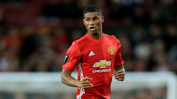 Marcus Rashford has been struggling to make the team at Manchester United