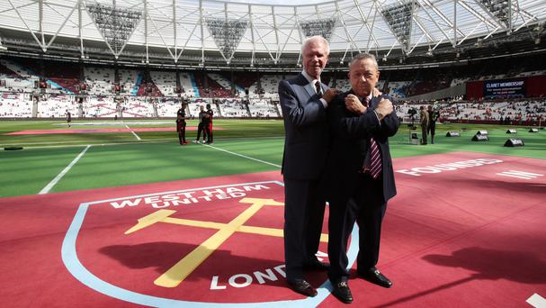 David Sullivan, right, has played down negativity behind the club's move to the former Olympic Stadium
