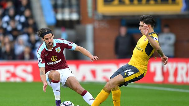Burnley boss Sean Dyche has hailed George Boyd, left, for his work ethic