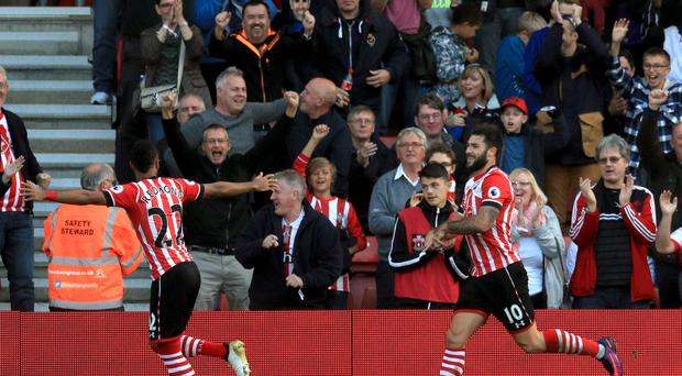Southampton's Charlie Austin, right, has scored seven goals in his past six games