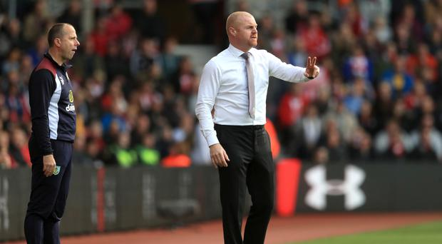 Burnley manager Sean Dyche was unhappy with the refereeing at Southampton