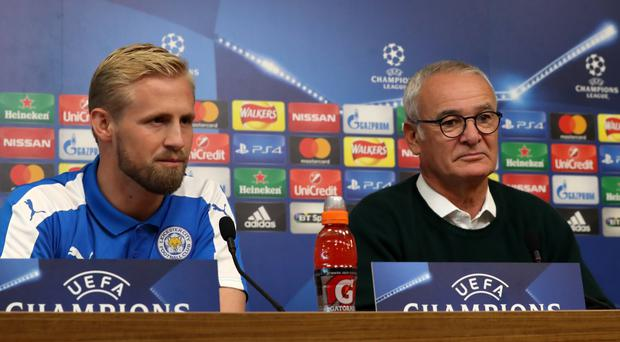 Claudio Ranieri's, right, Leicester have won both of their Group G matches in the Champions League