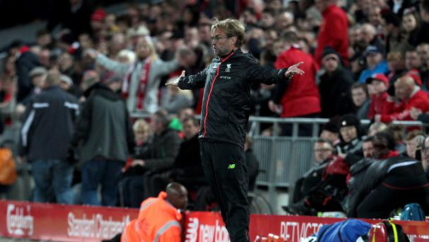Jurgen Klopp cut a frustrated figure at Anfield