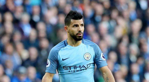 Manchester City's Sergio Aguero remains the man fellow strikers seek to beat in the Premier League goalscoring stakes.