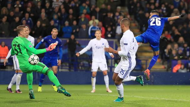 Leicester's Riyad Mahrez scored his third Champions League goal of the season in their 1-0 win over Copenhagen