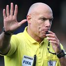 Howard Webb, pictured, believes Manchester United boss Jose Mourinho should be punished for making pre-match comments about referee Anthony Taylor