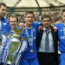 Now Manchester United manager, Jose Mourinho (centre) won the Premier League title three times with Chelsea